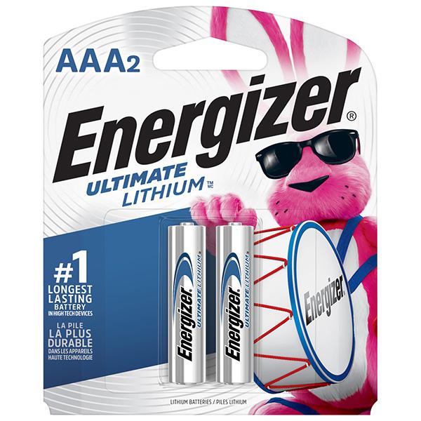 Energizer® Ultimate Lithium® AAA Batteries, 2/Pkg