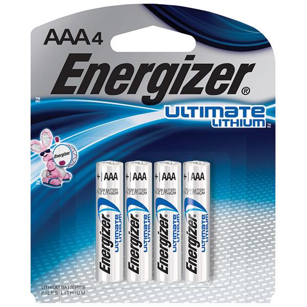 Energizer® Ultimate Lithium® AAA Batteries, 4/Pkg
