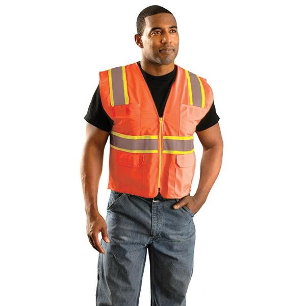 OccuNomix Class 2 Classic Surveyor's Two-Tone Mesh Vest, Large
