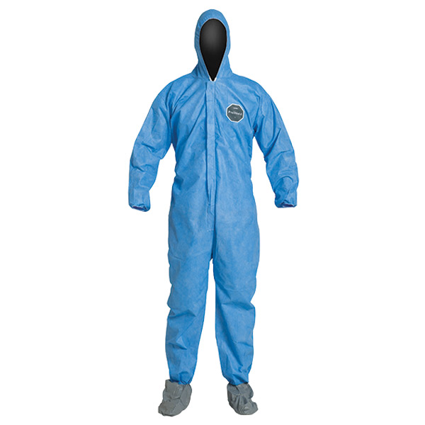 DuPont™ ProShield® 10 Coveralls w/ Hood, Elastic Wrists, & Attached Skid-Resistant Boots, X-Large