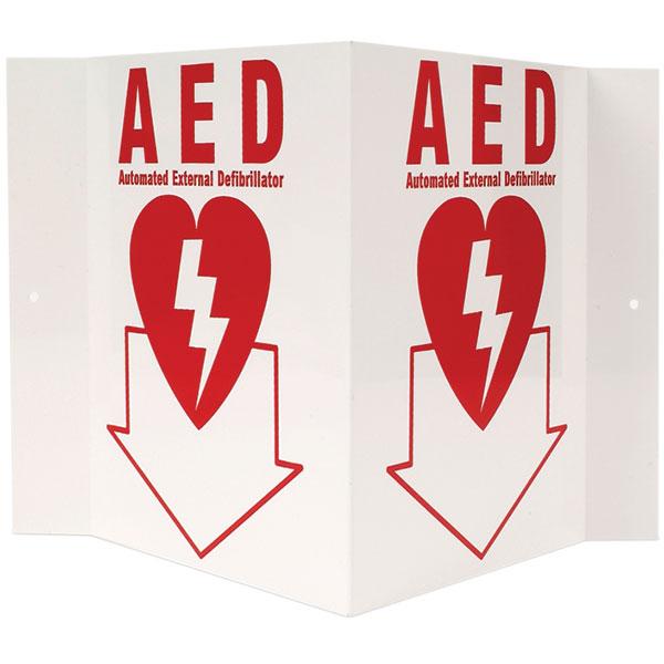 """AED, 3-D, Rigid Plastic, 5"""" x 6"""""""