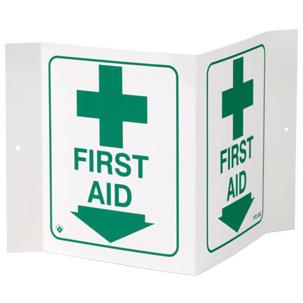 """""""First Aid"""", 3-D, Rigid Plastic, 5"""" x 6"""""""