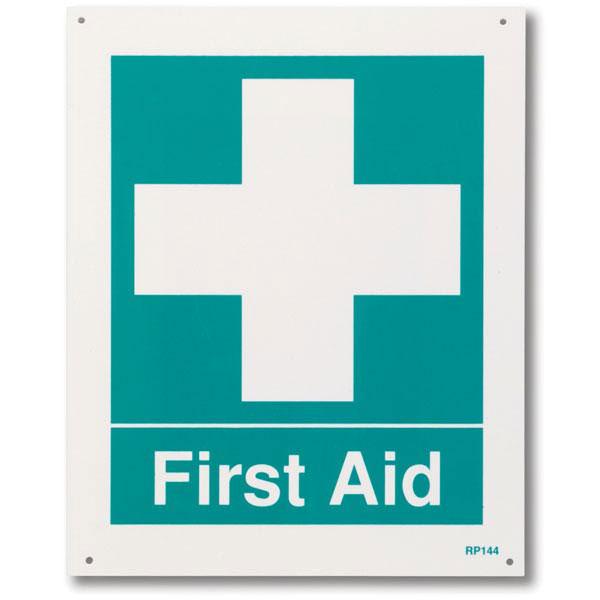 """First Aid"", Rigid Plastic, 8"" x 10"""
