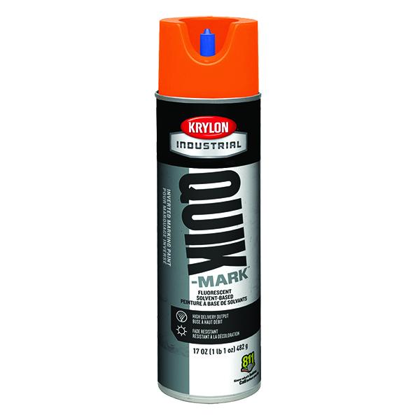 Krylon Quik-Mark Inverted Marking Paint, Water Based, Fluorescent Orange