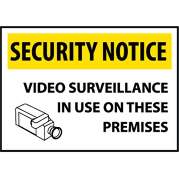 "NMCâ""¢ Security Notice Video Surveillance..., Rigid Plastic, 14"" x 20"""