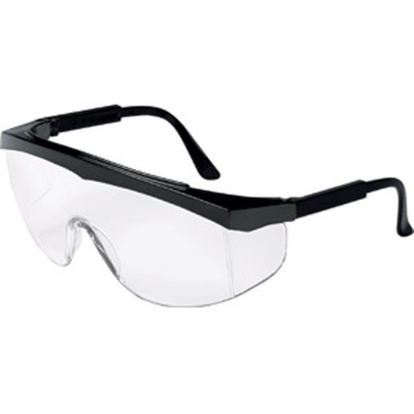 MCR Safety® Stratos® Eyewear, Black Frame, Clear Lens
