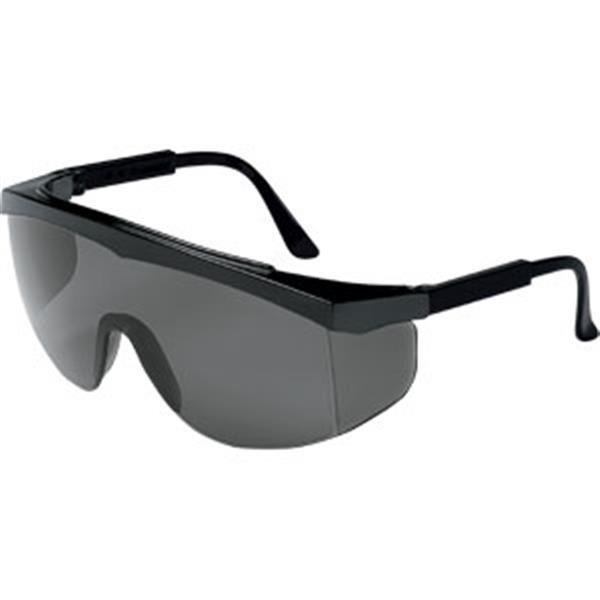 MCR Safety® Stratos® Eyewear, Black Frame, Gray Lens
