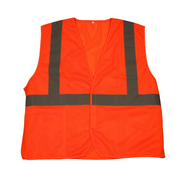 "TruForceâ""¢ Class 2 Solid Mesh Safety Vest, Orange, X-Large"