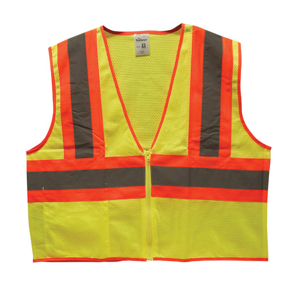 "TruForceâ""¢ Class 2 Two-Tone Mesh Safety Vest, Lime, Medium"