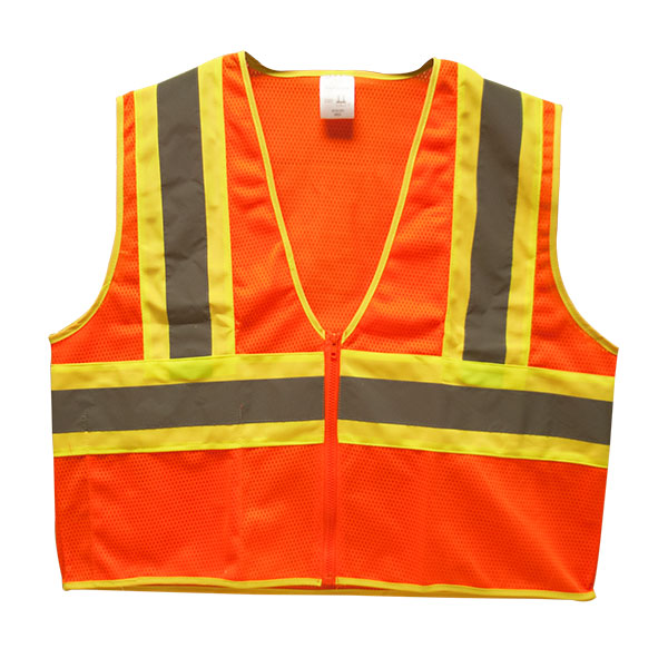 "TruForceâ""¢ Class 2 Two-Tone Mesh Safety Vest, Orange, Medium"