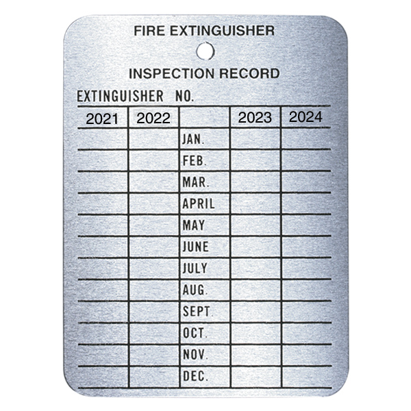 """Metal 4-Year Inspection Tag, 3"""" x 3 1/4"""""""