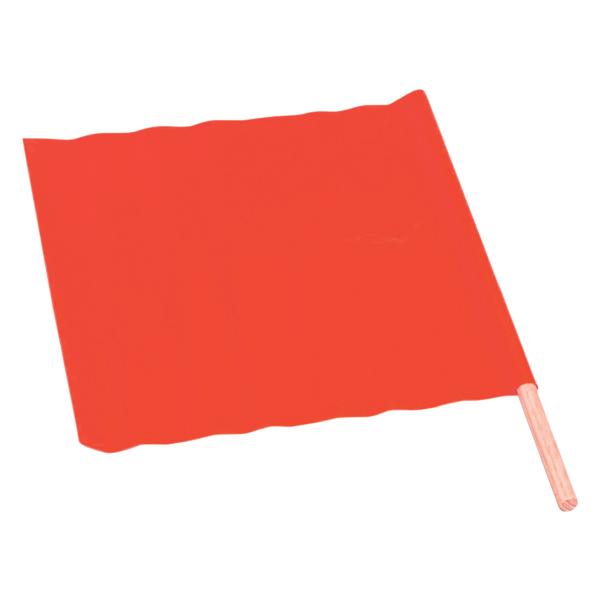 "TruForceâ""¢ All-Weather Traffic Flag, 18"" x 18"" w/ 24"" Dowel"