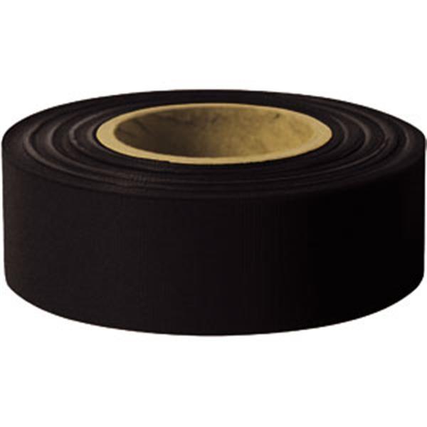 "Presco Solid-Color Roll Flagging, Standard, Taffeta, 1 3/16"" x 300', Black"