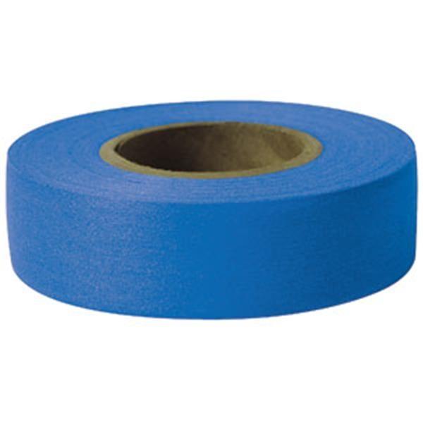 "Presco Solid-Color Roll Flagging, Standard, Taffeta, 1 3/16"" x 300', Blue"