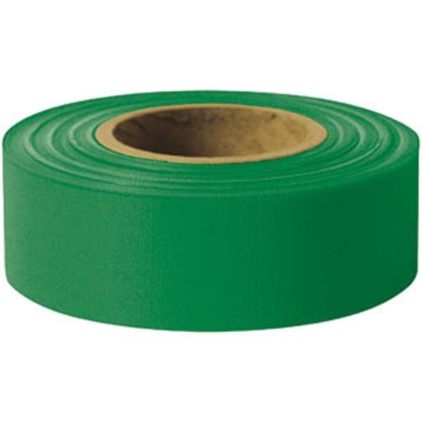"Presco Solid-Color Roll Flagging, Standard, Taffeta, 1 3/16"" x 300', Green"
