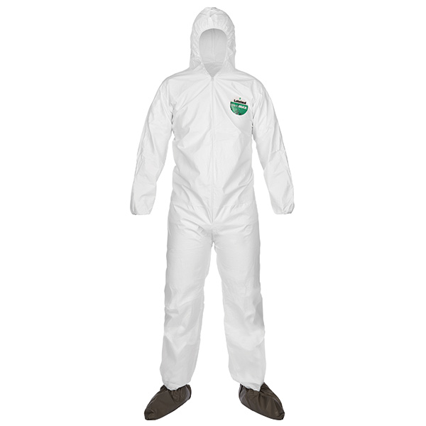 Lakeland MicroMax® Coveralls w/ Front Hood, Boots, & Elastic Wrists, X-Large