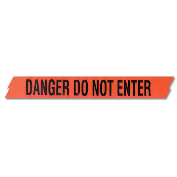 """Presco Barricade Tape, 2.5 mil, """"Danger Do Not Enter"""", Red, 1/Roll"""
