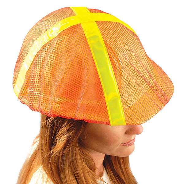 OccuNomix High-Vis Regular-Brim Hard Hat Cover, Orange