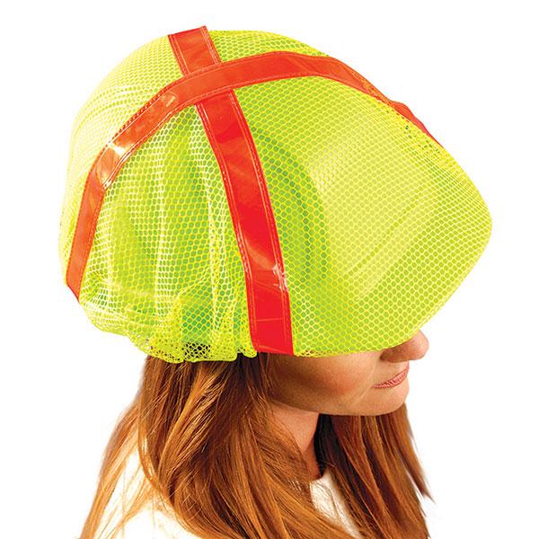 OccuNomix High-Vis Regular-Brim Hard Hat Cover, Yellow