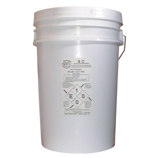 """Buckeye BC Standard Dry Chemical Recharge Agent, 50 lb, 12"""" Dia x 19 """"H"""